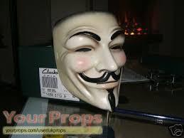 v for vendetta movie mask.  Vendetta V For Vendetta Original Movie Prop In For Movie Mask