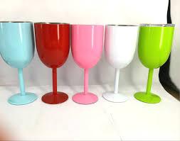 colored plastic wine glasses bulk