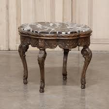 round end tables with marble tops