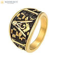 vine masonic ring in 4 diffe