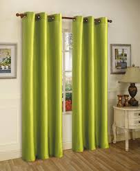 get ations gorgeous home 1 panel solid lime green semi sheer window faux silk antique bronze grommets curtain