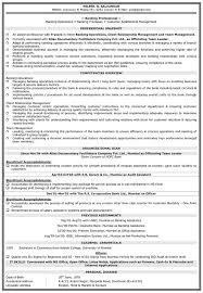Resume Format For Bank Job For Fresher Only Graduate Perfect