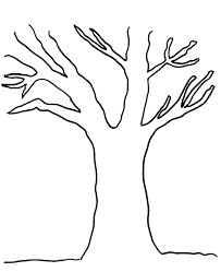 Small Picture Tree Outline Printable Coloring Coloring Pages
