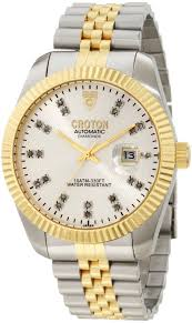 croton gold watches for mens best watchess 2017 men watches gold croton 39 s cn307352ttsl automatic diamond