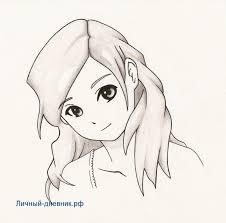 картинки аниме девушки карандашом для срисовки