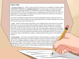 How To Write A Settlement Agreement With Pictures Wikihow
