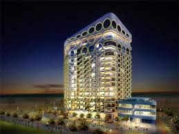 High tech modern architecture buildings Football Shaped James Law Cybertecture Dubai Waterfront Sustainable Cybertecture Future Architecture Intelligent Buildings Dreamstimecom Hightech Cybertechture For Dubai Waterfront