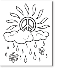 Small Picture Peace Sign Coloring Pages