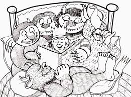 Small Picture Where The Wild Things Are Coloring Page Coloring Home