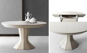 attention expandable round dining table pedestal