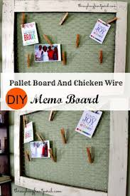 diy en wire and pallet wood memo board