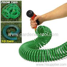 coil garden hose. 15M EVA Garden Water Coil Hose For Car Wash A
