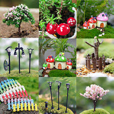 fairy garden accessories. miniature fairy garden ornament decor pot diy craft accessories dollhouse new