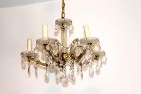 Vintage Kronleuchter Mit Glas Ornamenten