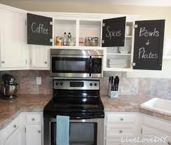Paint Inside Kitchen Cabinets Kitchen Cabinet Chalk Paint Makeover Creative Home