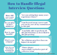 How To Answer Job Interview Questions Illegal Interview Questions What Job Candidates Cant Be Asked