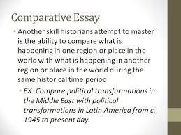 comparative essay another skill historians attempt to master is  comparative essay