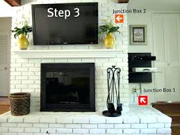 installing tv above fireplace how to mount a on a brick fireplace love the white washed brick mount tv on stacked stone fireplace