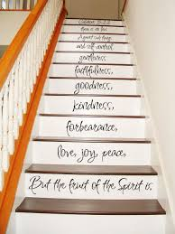 Stairs Quotes Custom Galatians 48 4848 STAIR CASE Art Wall Decals Wall Stickers Vinyl