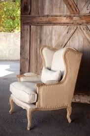 charleston house burlap linen wingback chair would love a pair of these in my living room