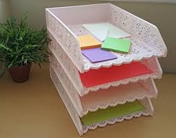 desk office file document paper. 4-Pack-Stackable-Letter-Tray-Desk-Office-File- Desk Office File Document Paper