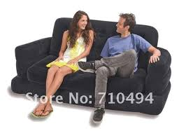 intex inflatable furniture. Intex Air Sofa Bed Inflatable Pull Out Queen Mattress Sleeper With Hand Furniture