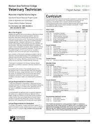 Veterinary Technician Resume Sample Resume Template Info