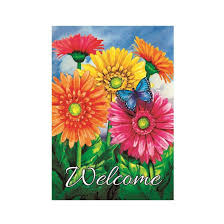 get ations custom decor flag erfly gerbera welcome garden garden flags decorative flags initial flags party flags 28