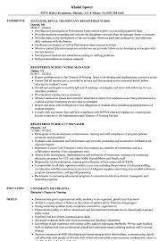 Resume Templates Registered Nurse Manager Sensational Assistant