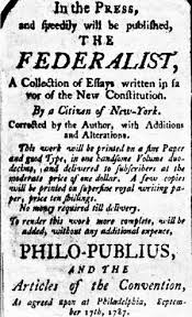 federalist papers the federalist papers are a series of 85 articles or essays advocating the ratification of the united states constitution seventy seven of the essays were