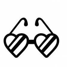 ハートのメガネシルエット イラストの無料ダウンロードサイト