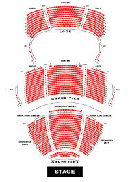 Seating Chart Steven Tanger Center For The Performing Arts