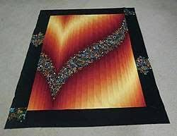 201 best Quilts Bargello images on Pinterest | Bargello quilts ... & Bargello using an Ombre fabric & 1 Inset fabric. Adamdwight.com