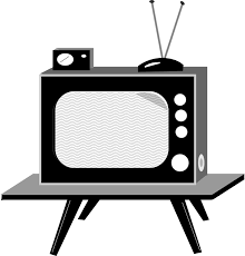 tv clipart black and white. tv vintage tv clipart black and white