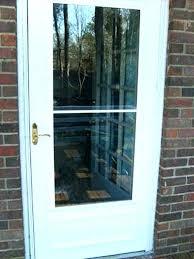 replacing storm door handle replacing a storm door how to fix a storm door step 1