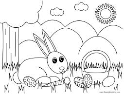 Printable Easter Bunny Eggs Coloring Pages Kids Glandigoartcom
