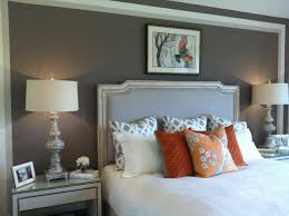 Orange And Grey Bedroom Love The Grey Paint White Quilt Orange Accents Master Bedroom