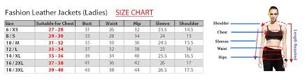 Sweatshirt Size Chart Us Size Charts For Leather Garments