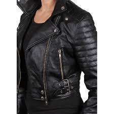 las black leather biker jacket sixty