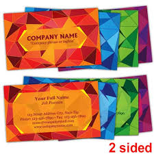Stained Glass Business Cards Two Sided Printit4lesscom