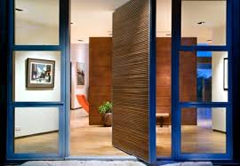 modern front door orange. Currently, The Designs Are Hip, Combining Different Materials. If You Have A Large Garden With High Fence, Can Opt For Modern Metal Door And Glass. Front Orange