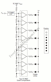 f v converter for tachometer bar graph display circuit wiring tachometer bar graph display circuit s schematic