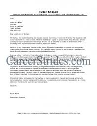 Sample Cover Letter For Teaching Position With Experience ...