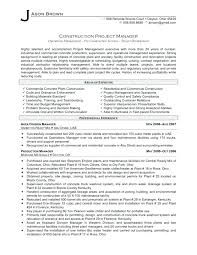 Free Construction Resume Templates Best Of Construction Resume Samples Surprising Project Management Resume
