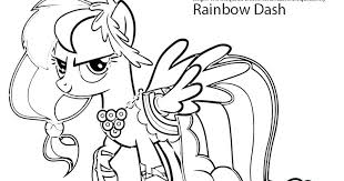 rainbow dash coloring pages color page my little pony