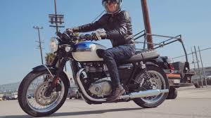 2017 triumph bonneville t100 first ride review youtube