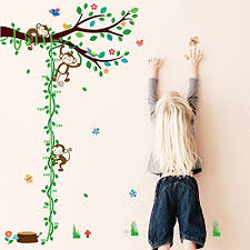 Cute Growth Chart Woodland Arts 3ft X 5ft Cute Monkey Climbing Trees Growth