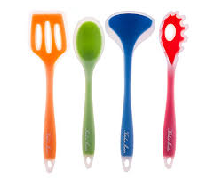 colorful kitchen utensils. Amazon.com: Silicone Nonstick Kitchen Cooking Utensil Spatula Tool Set, Colorful Gadgets, Set Includes; Slotted Turner, Pasta Fork, Spoon Spatula, Utensils ,