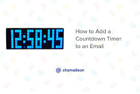 How To Add A Countdown Timer To An Email 15 Examples Included