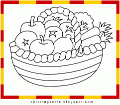 Free Coloring Pages Of Fruit Bowl Mixed Fruit Coloring Pages Mixed ...
